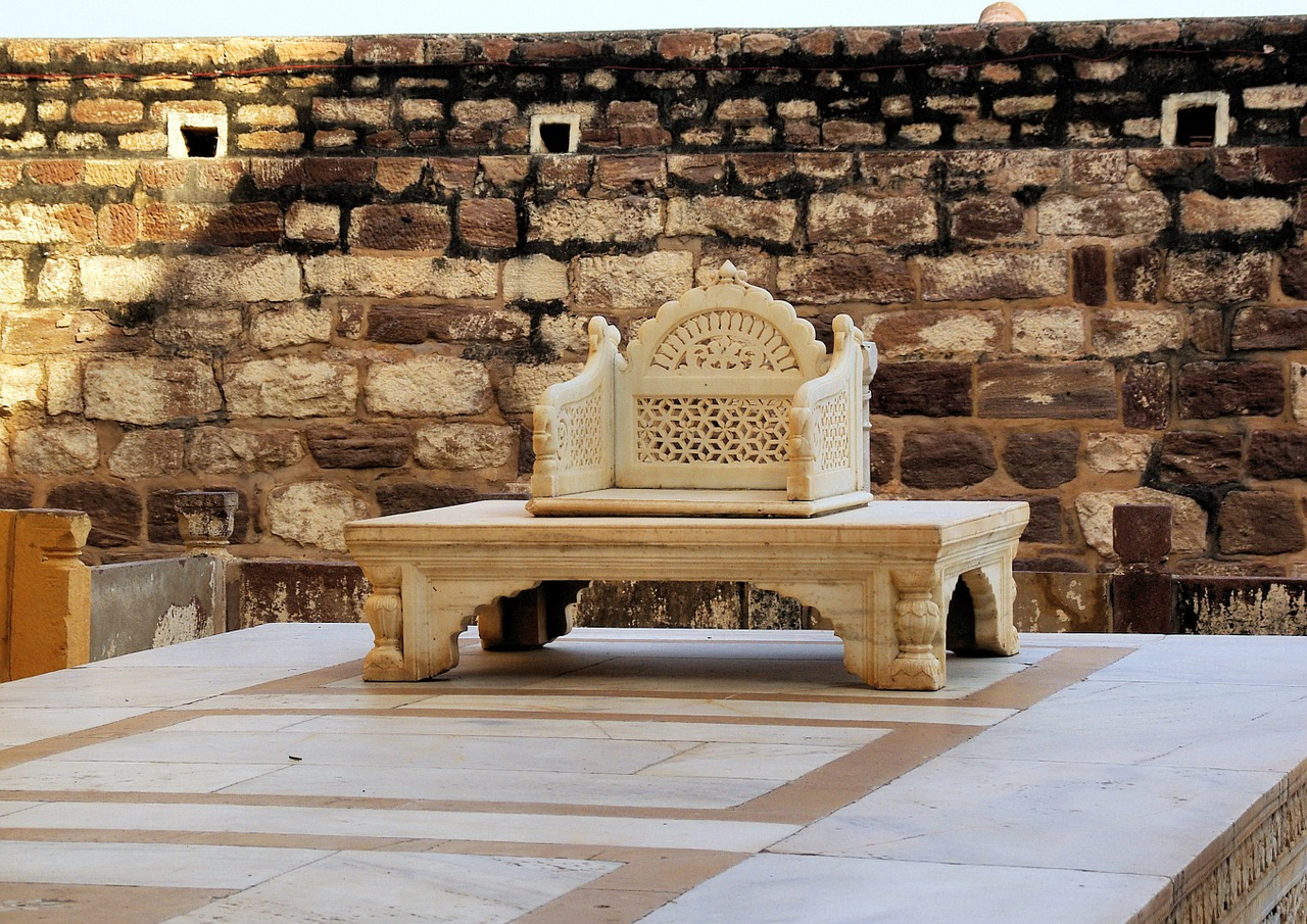 The throne in the fort of Jaisalmer