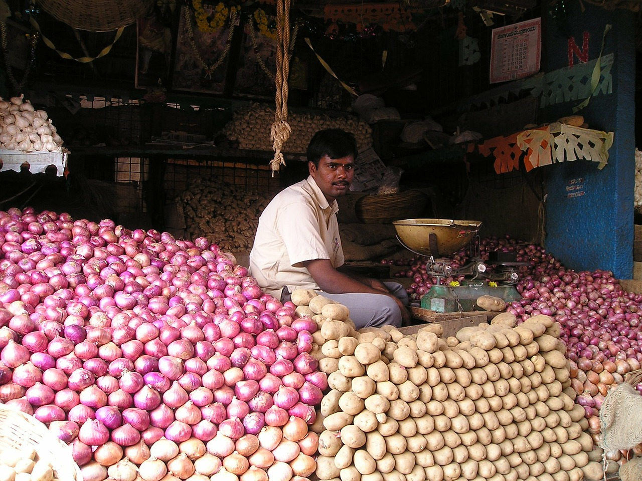 india market vegetables free photo