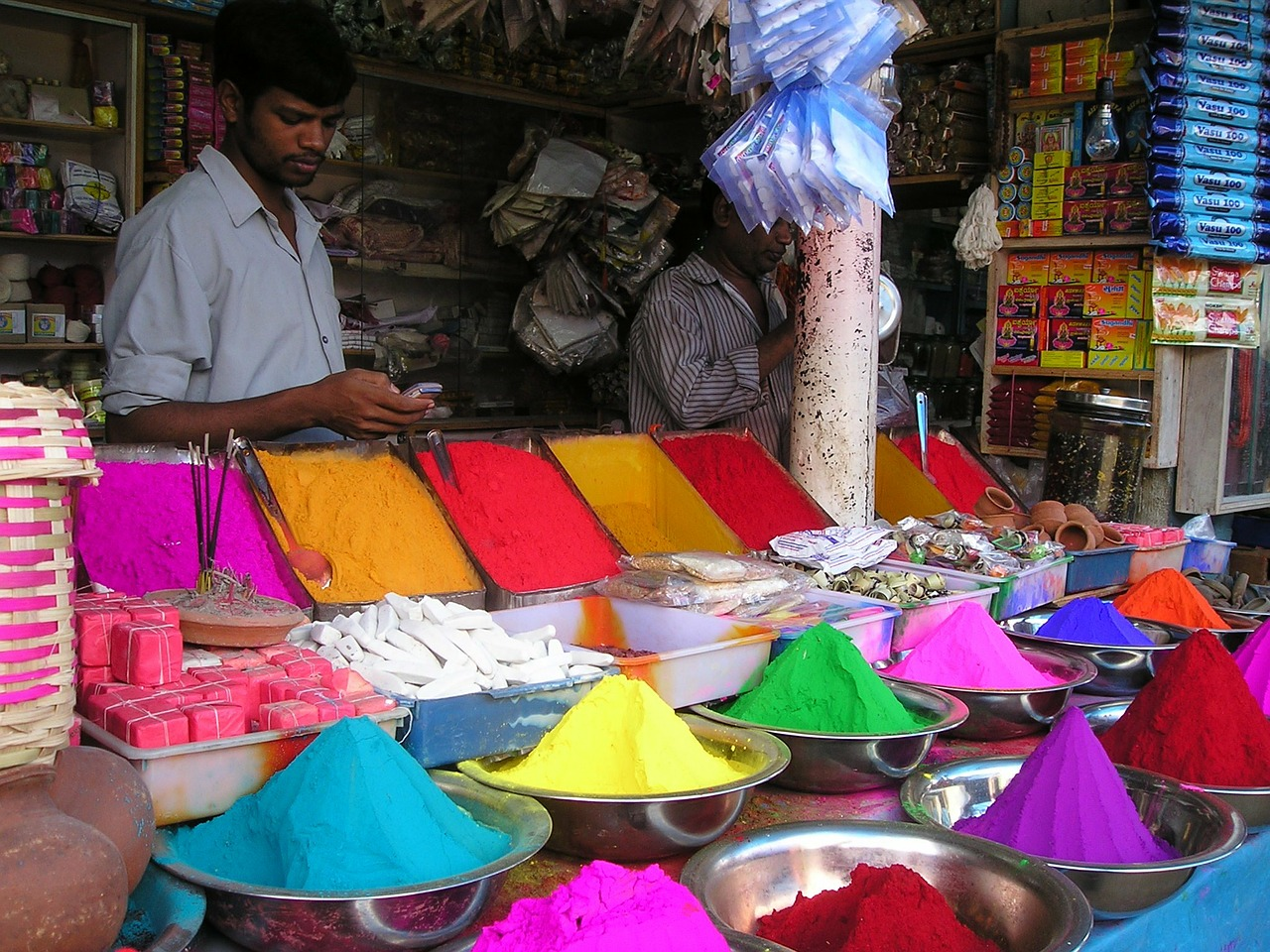india market color free photo