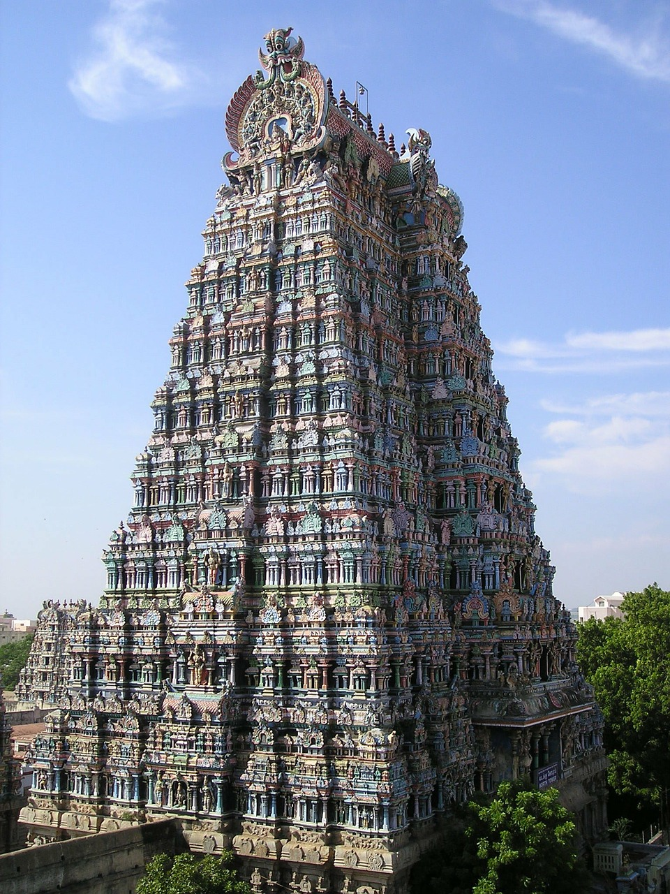 india temple tower free photo