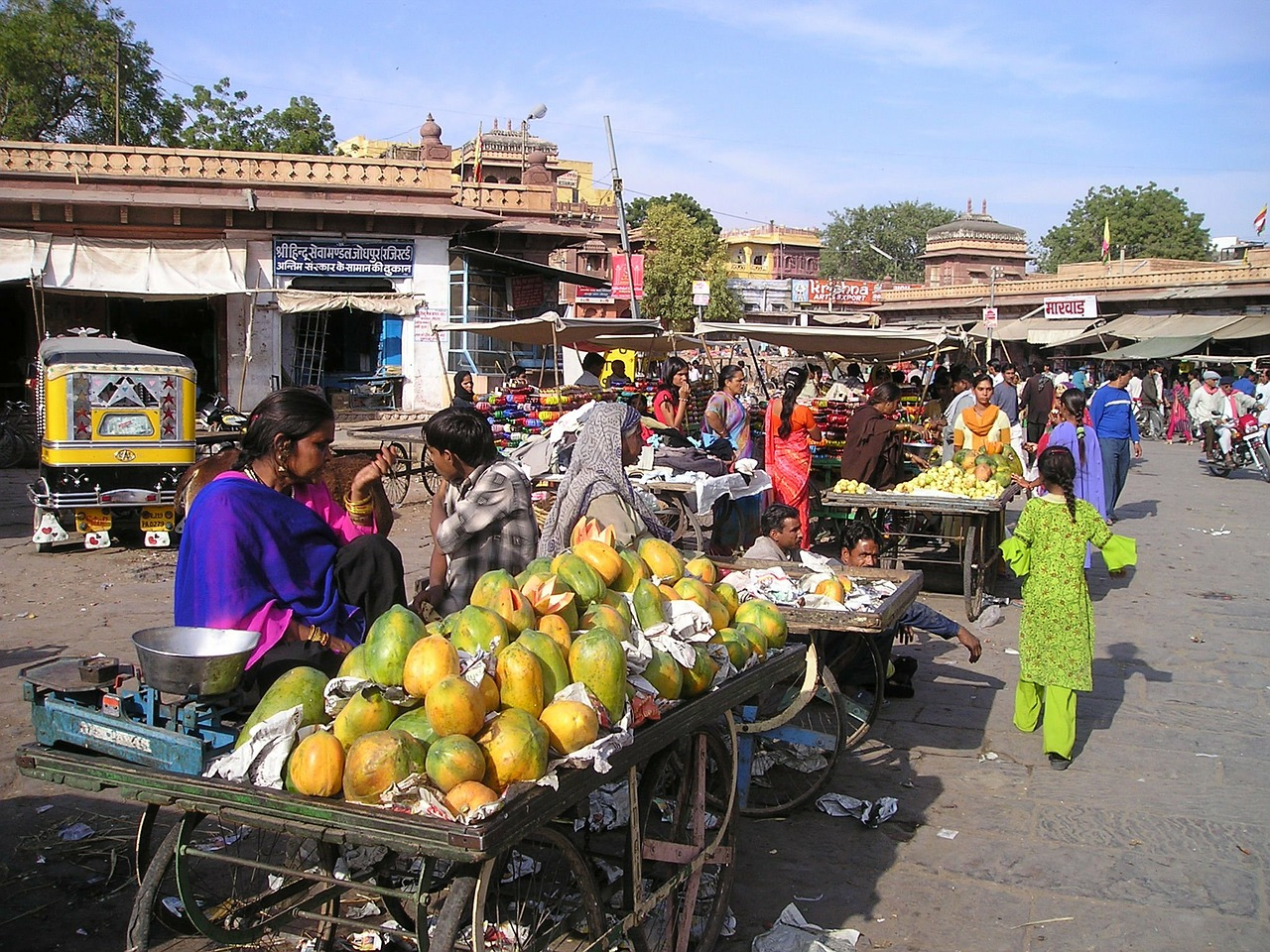 india fruit market free photo