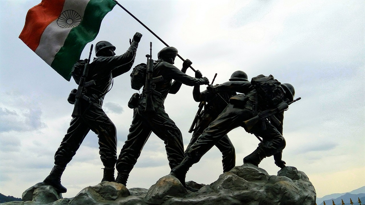 Indian flag,indian army,statue,independence dag,soldier - free photo