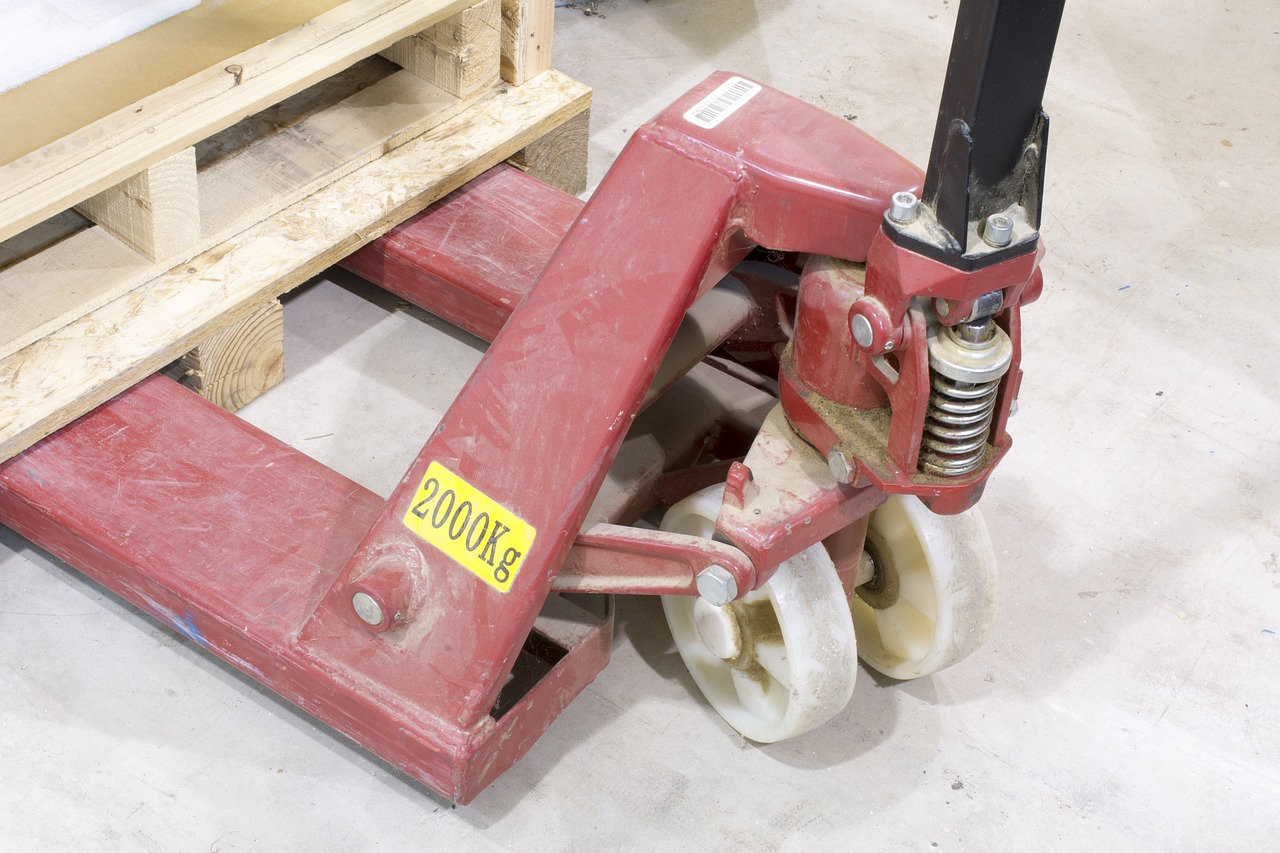 industrial pallet pallet-jack free photo