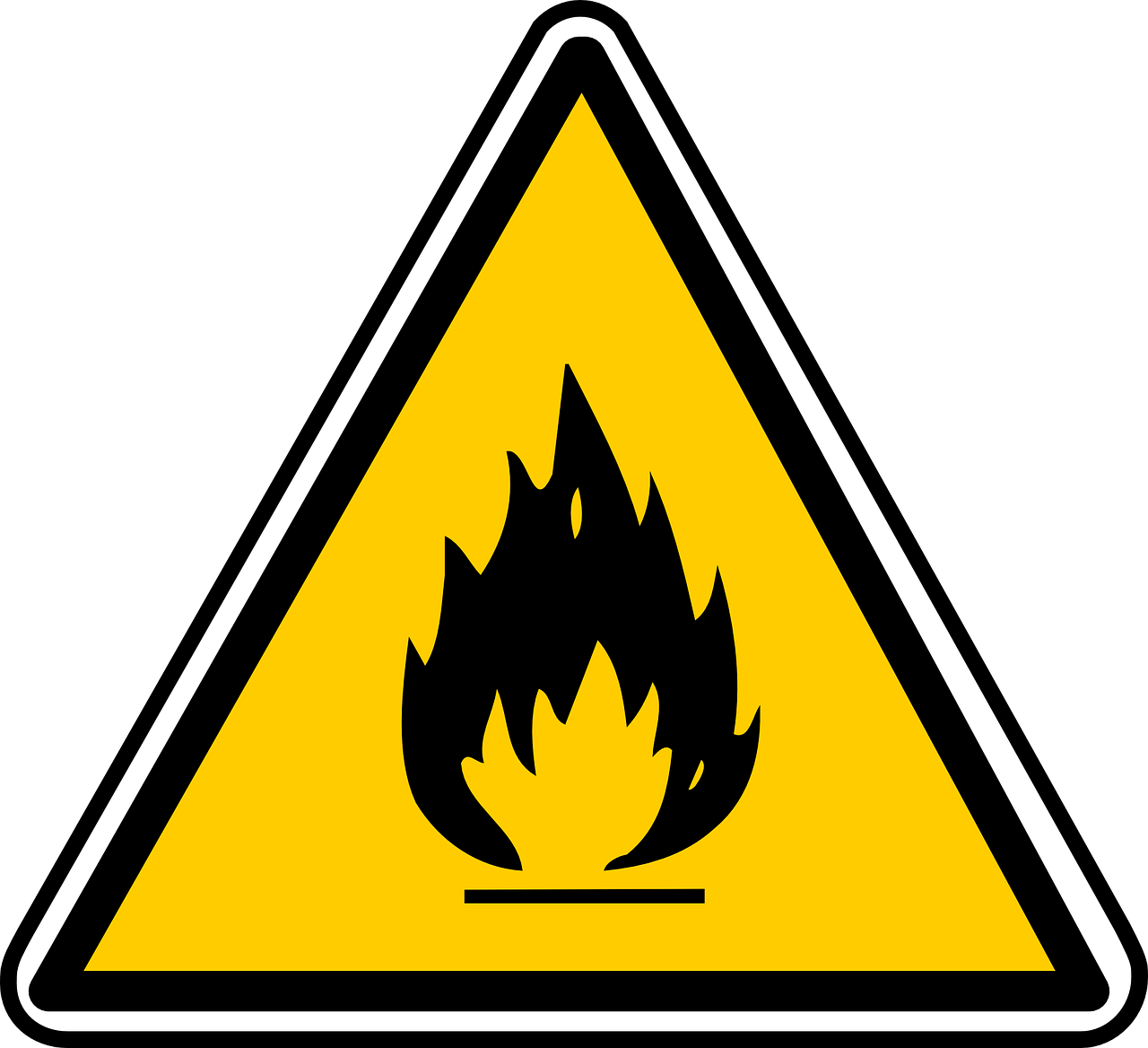inflammable sign hazardous free photo
