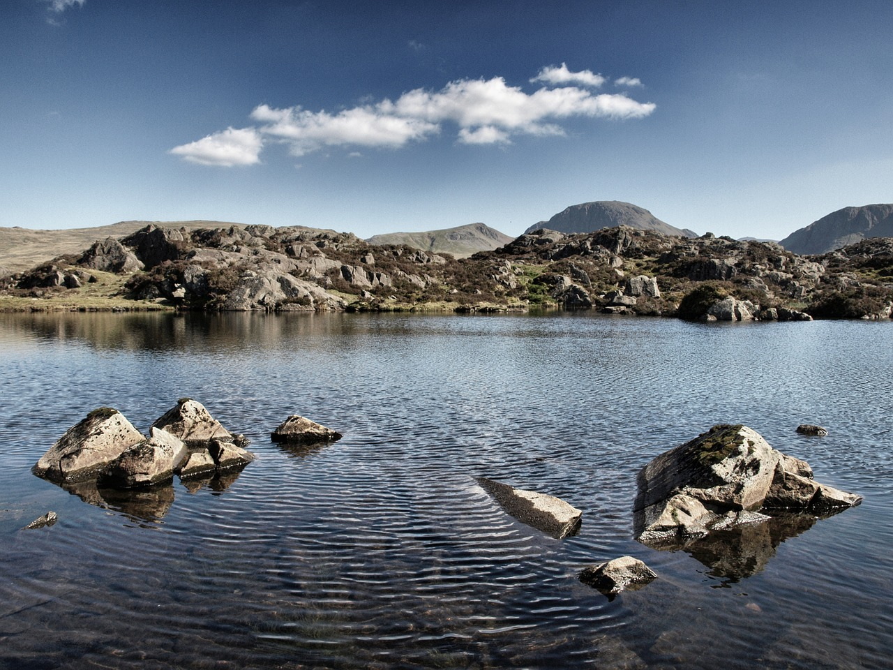 innominate tarn haystacks lake district free photo