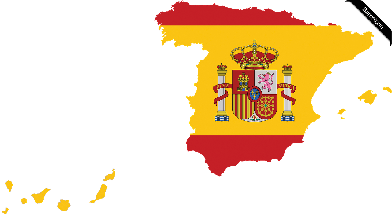 Map Of Spain With Barcelona.International Map Spain Barcelona Mourning Nemokamos Nuotraukos