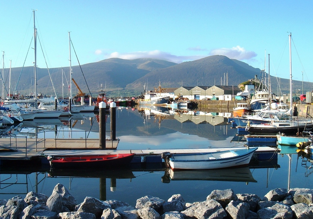 ireland marina port free photo