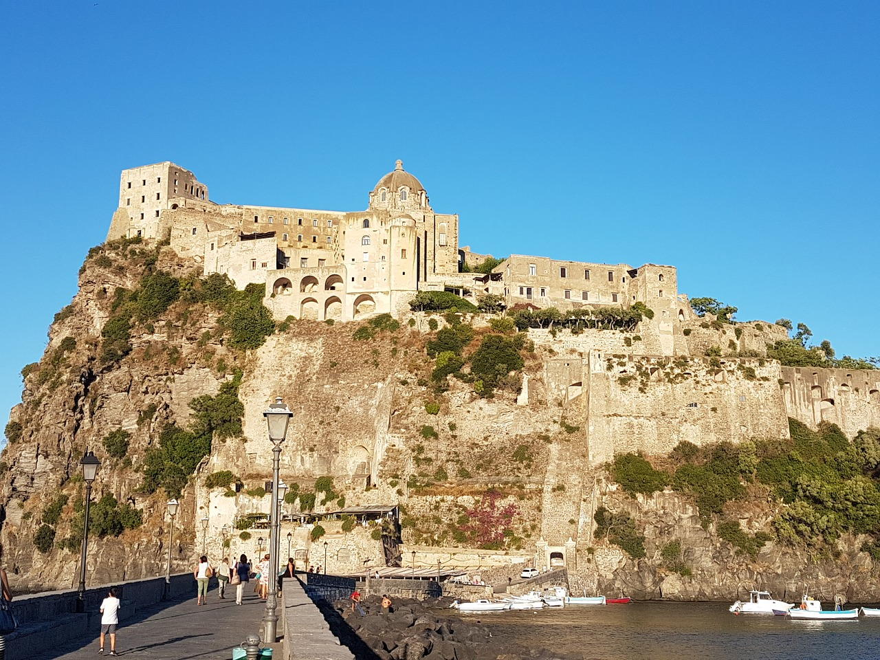 ischia aragonese castle islands free photo