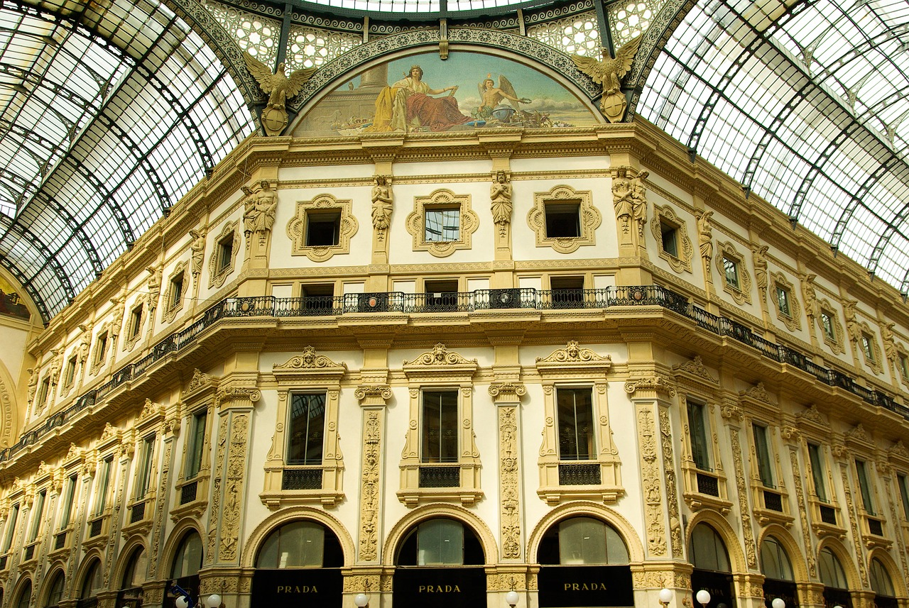 Italy Milan Gallery Canopy Free Pictures Free Image From Needpix Com