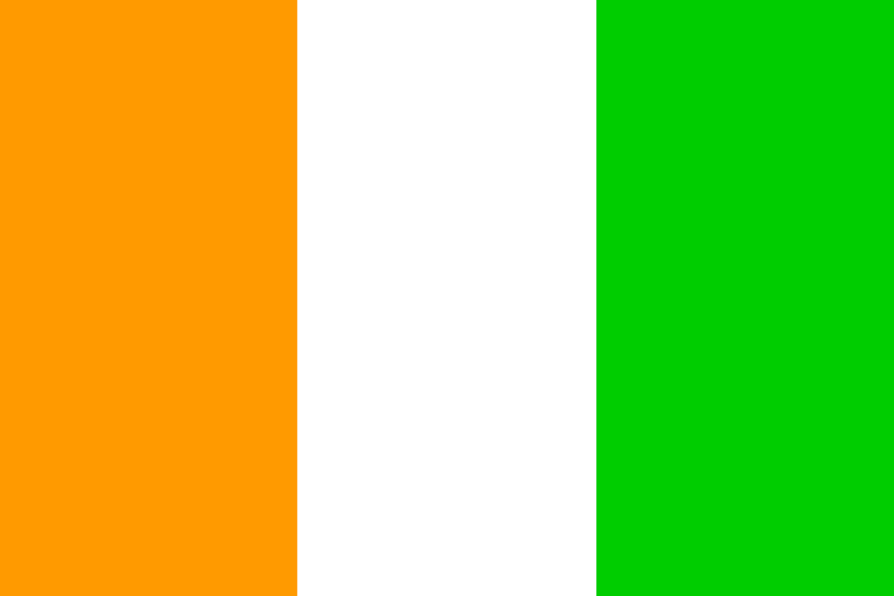 ivory coast flag cote free photo