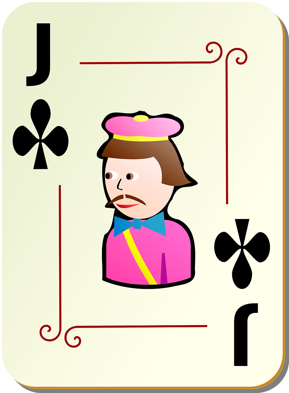 jack clubs playing cards free photo