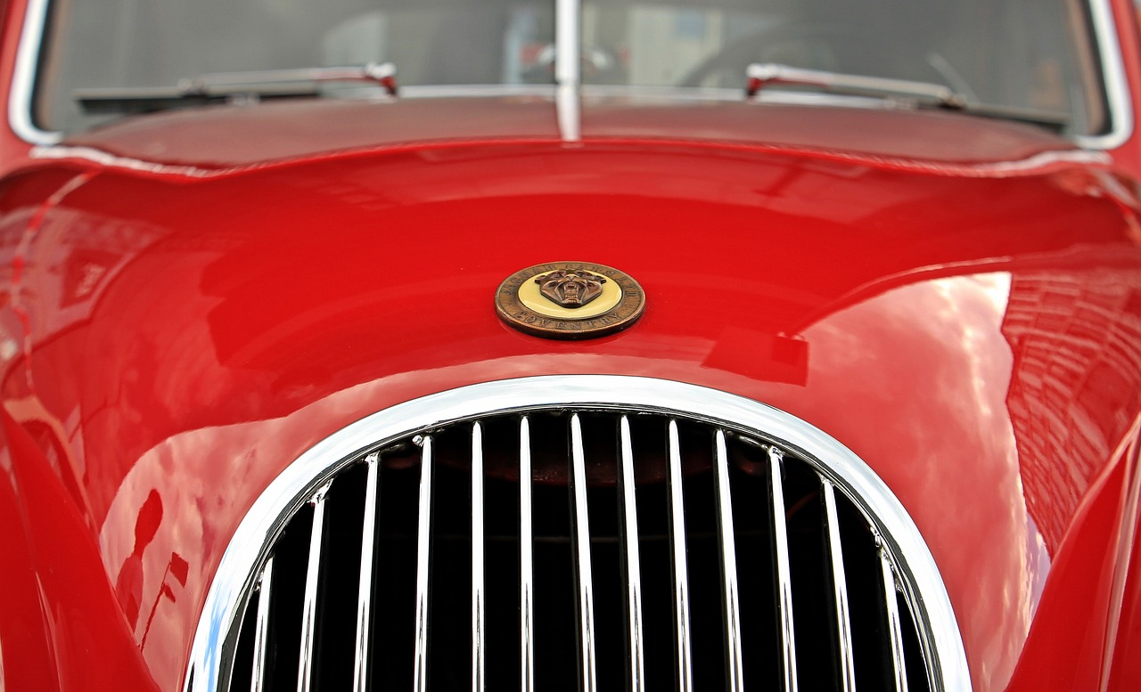 jaguar oldtimer red free photo