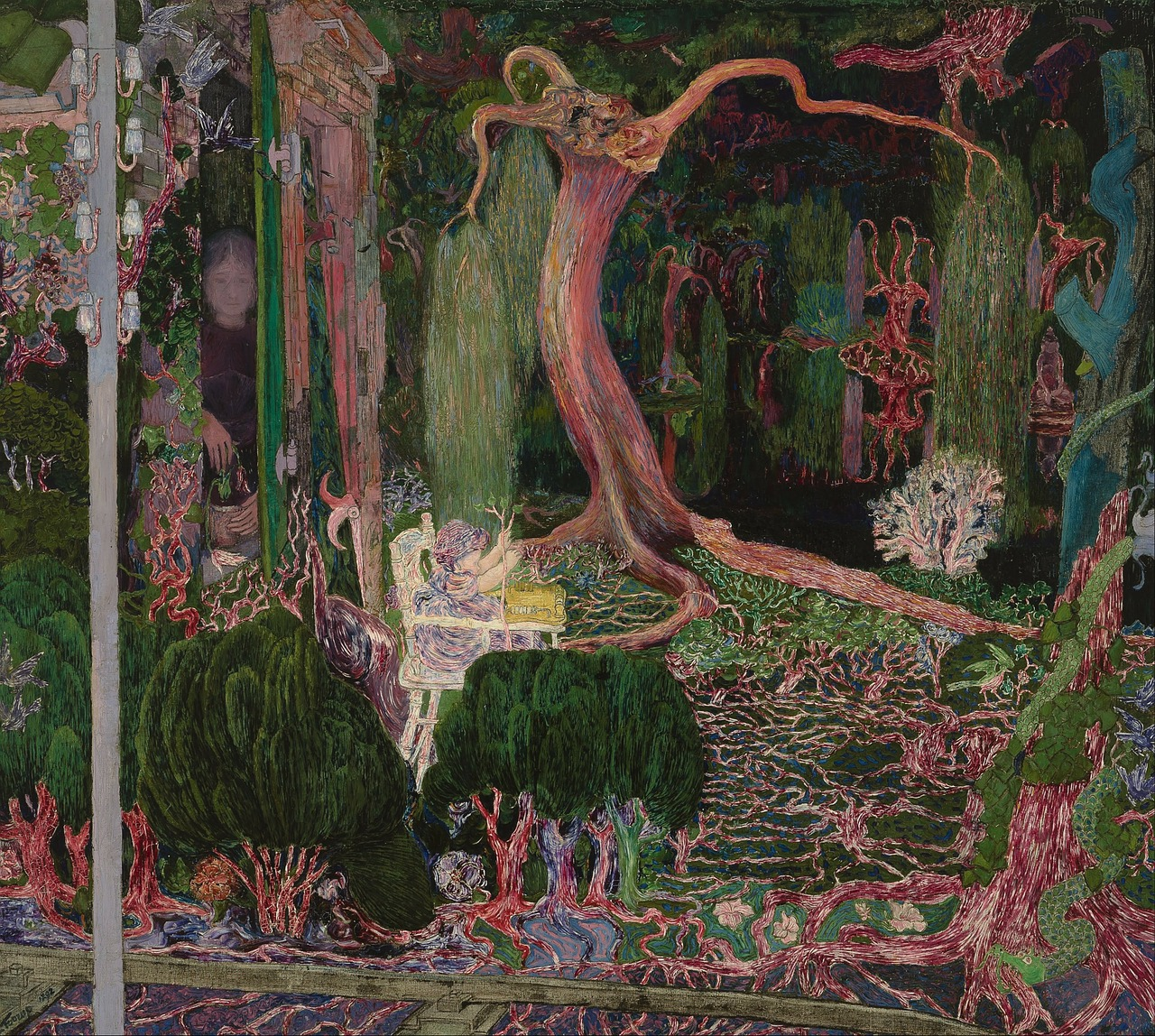 jan toorop painting oil on canvas free photo