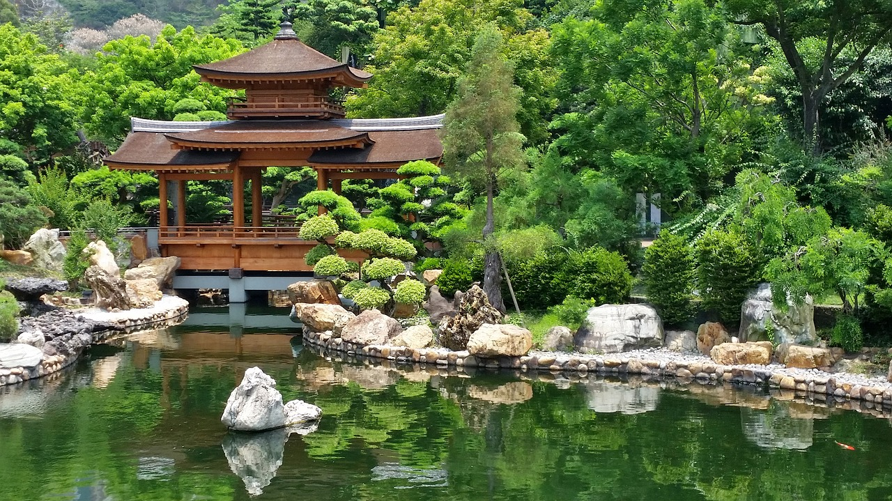 Japan Garden Temple Pond Japanese Garden Free Image From Needpix Com