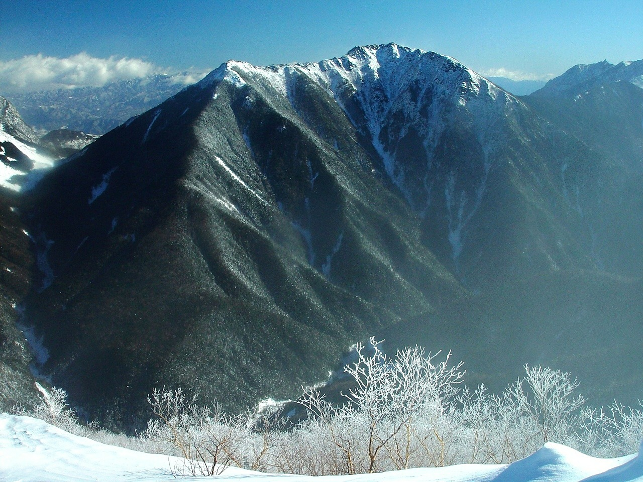 japan mountains winter free photo
