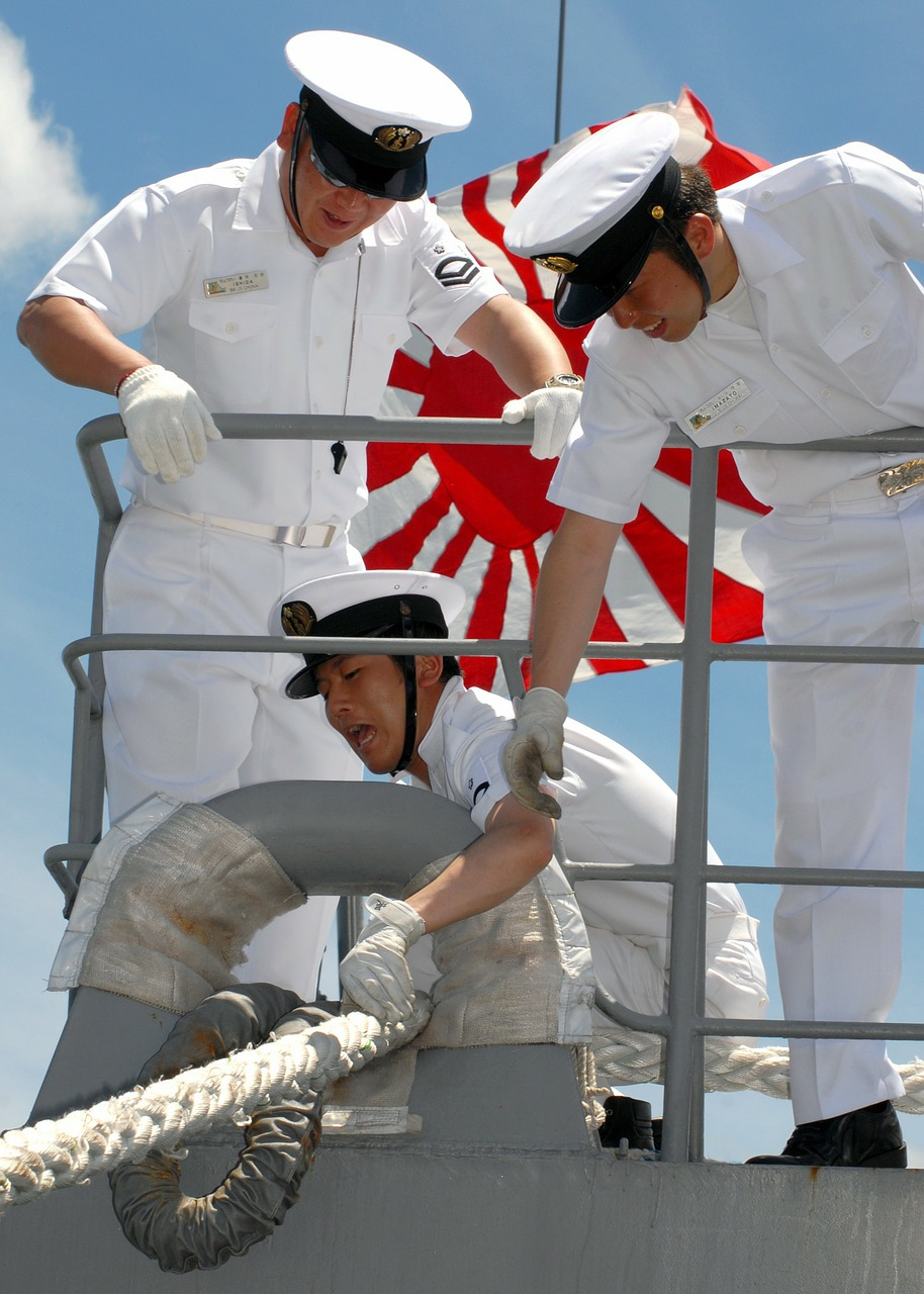 japanese navy sailors free photo