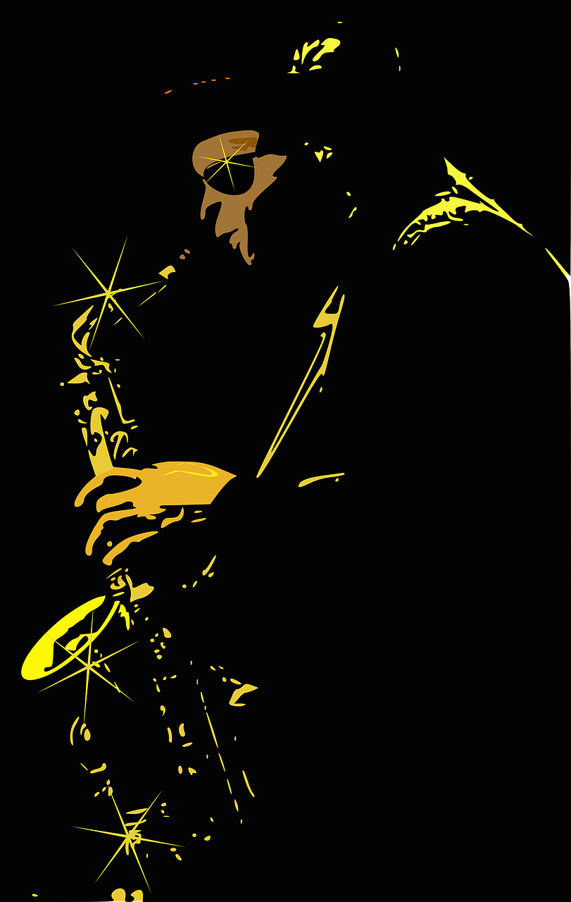 jazz player sax free photo