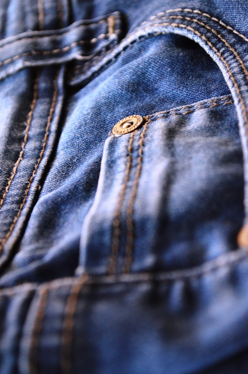 jeans blue pocket free photo