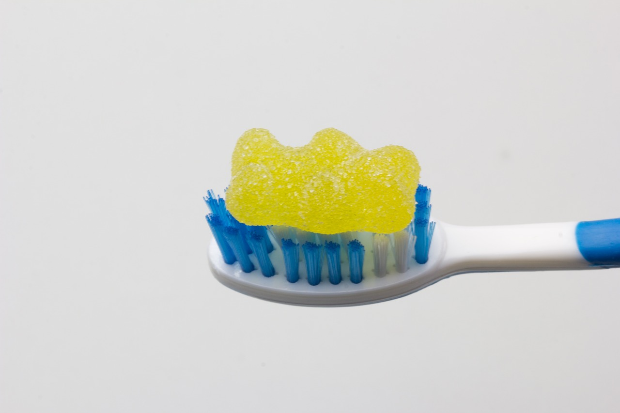 jelly bean toothbrush decay free photo