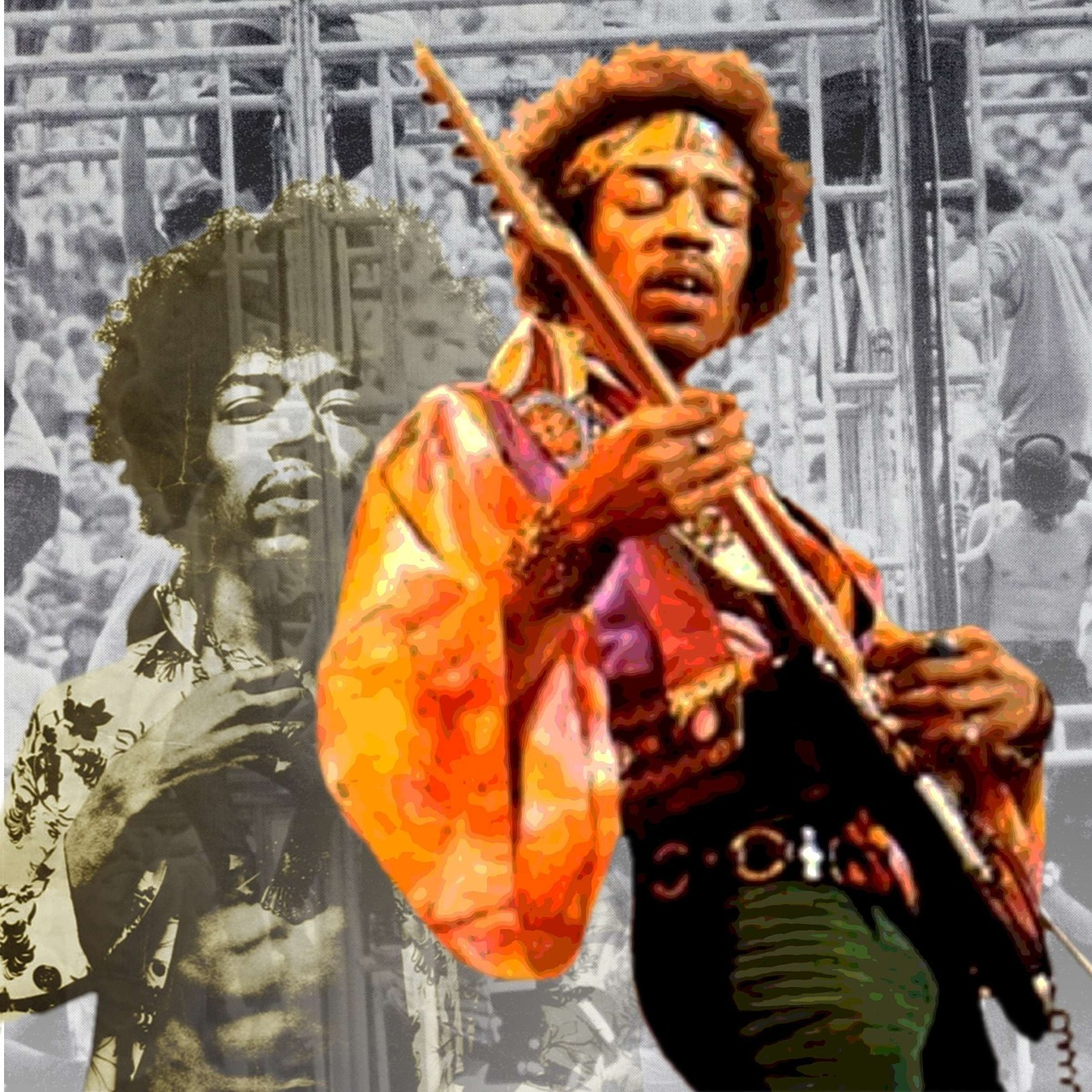 jimi,guitarist,woodstock,photomontage,free pictures, free photos, free images, royalty free, free illustrations, public domain