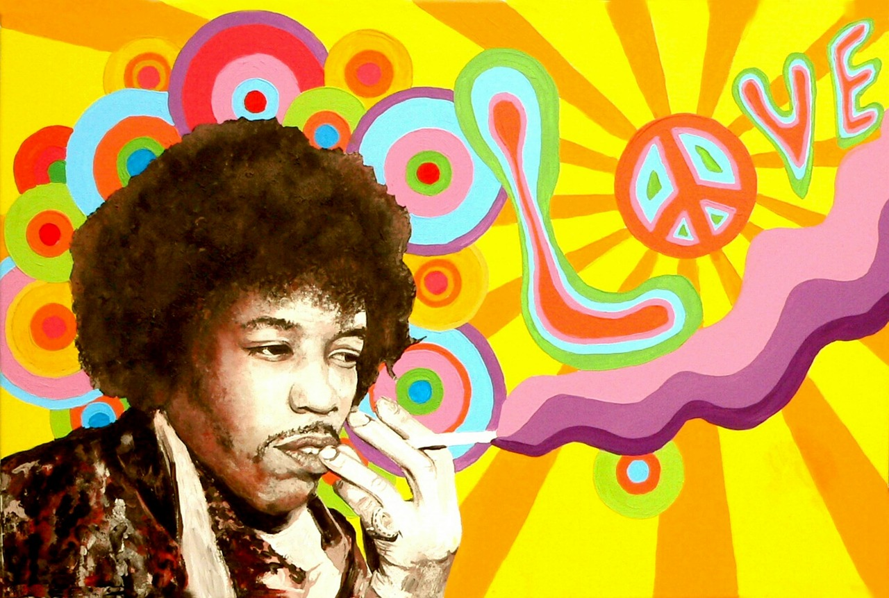 jimi hendrix hippie peace free photo