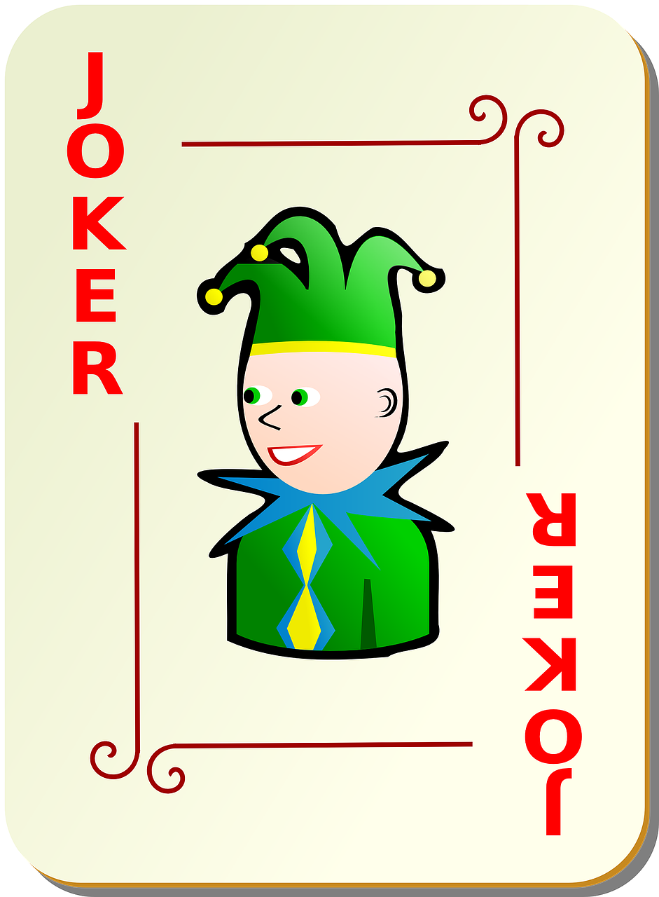 joker playing cards ornamental free photo