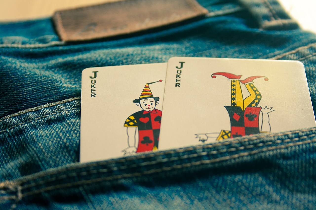 joker cards jeans free photo