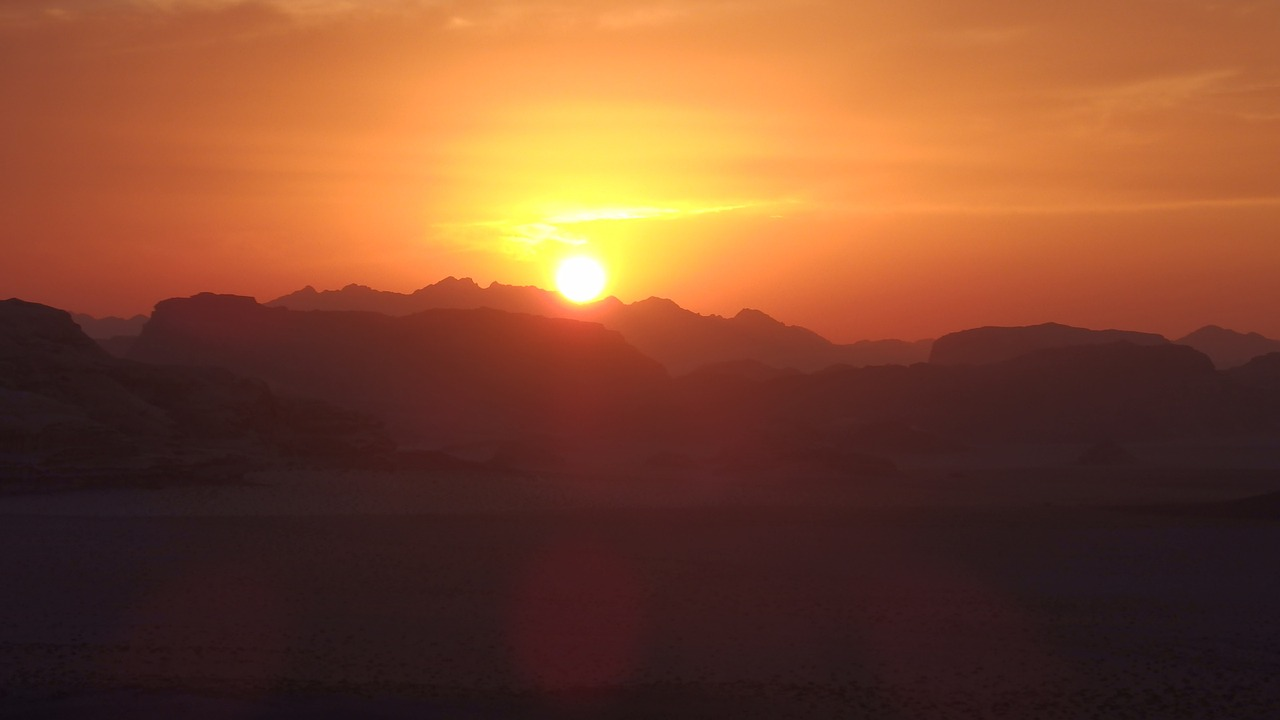 jordan desert sunset free photo