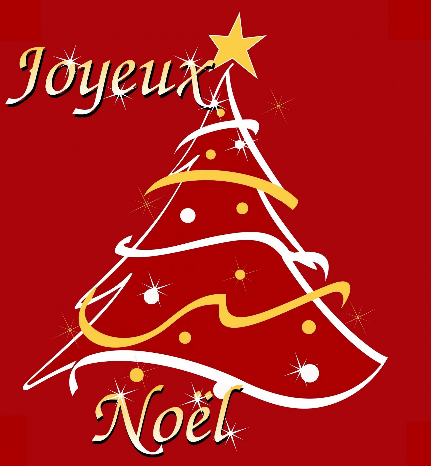 Joyeux Noel Clipart.Christmas Tree Stylized Art Clipart Free Photo From