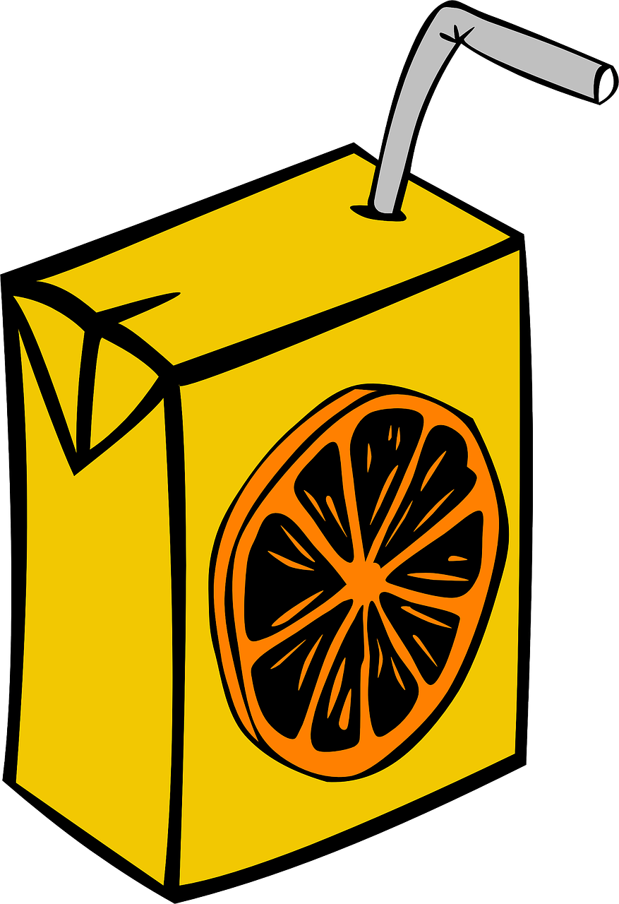 juice,box,carton,disposable,straw,orange,beverage,drink,lunch,school,sack,lunchpail,lunchbox,fruit,kids,children,free vector graphics,free pictures, free photos, free images, royalty free, free illustrations, public domain