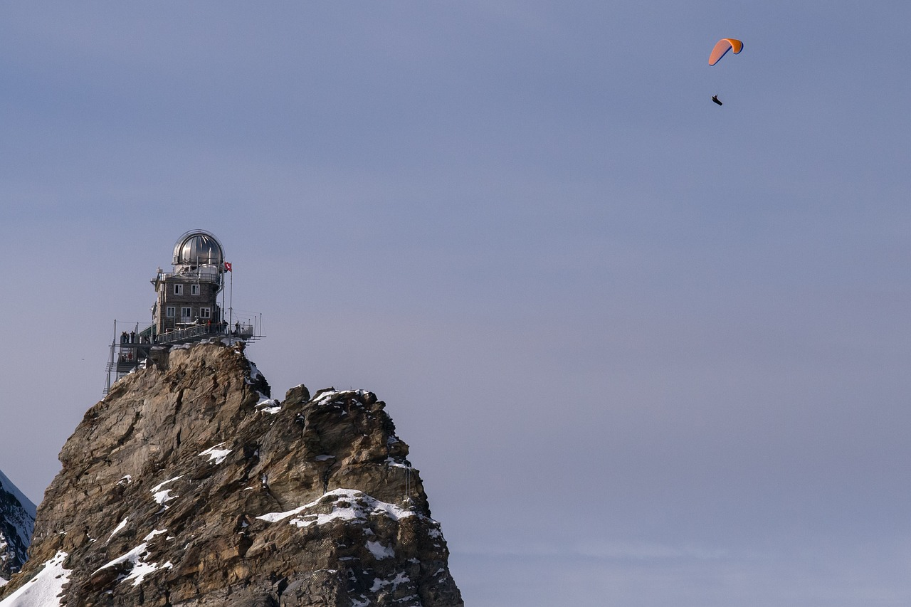 jungfraujoch mountain station paragliding free photo