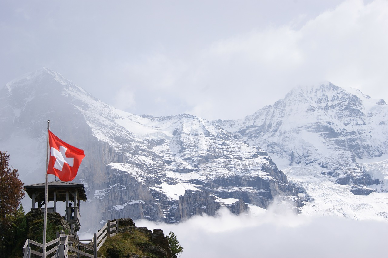 jungfraujoch mountains switzerland free photo