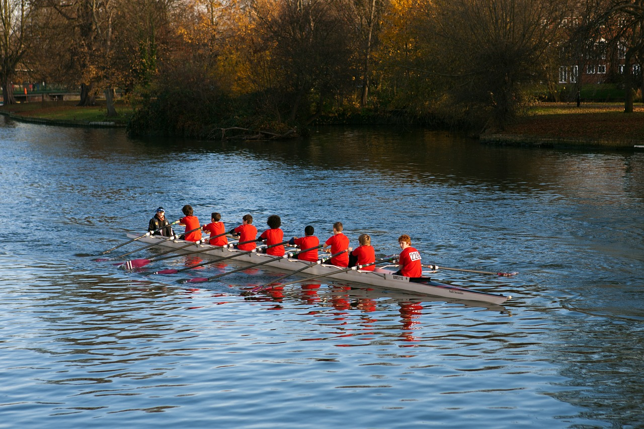 junior oarsmen rowing boat rowing free photo