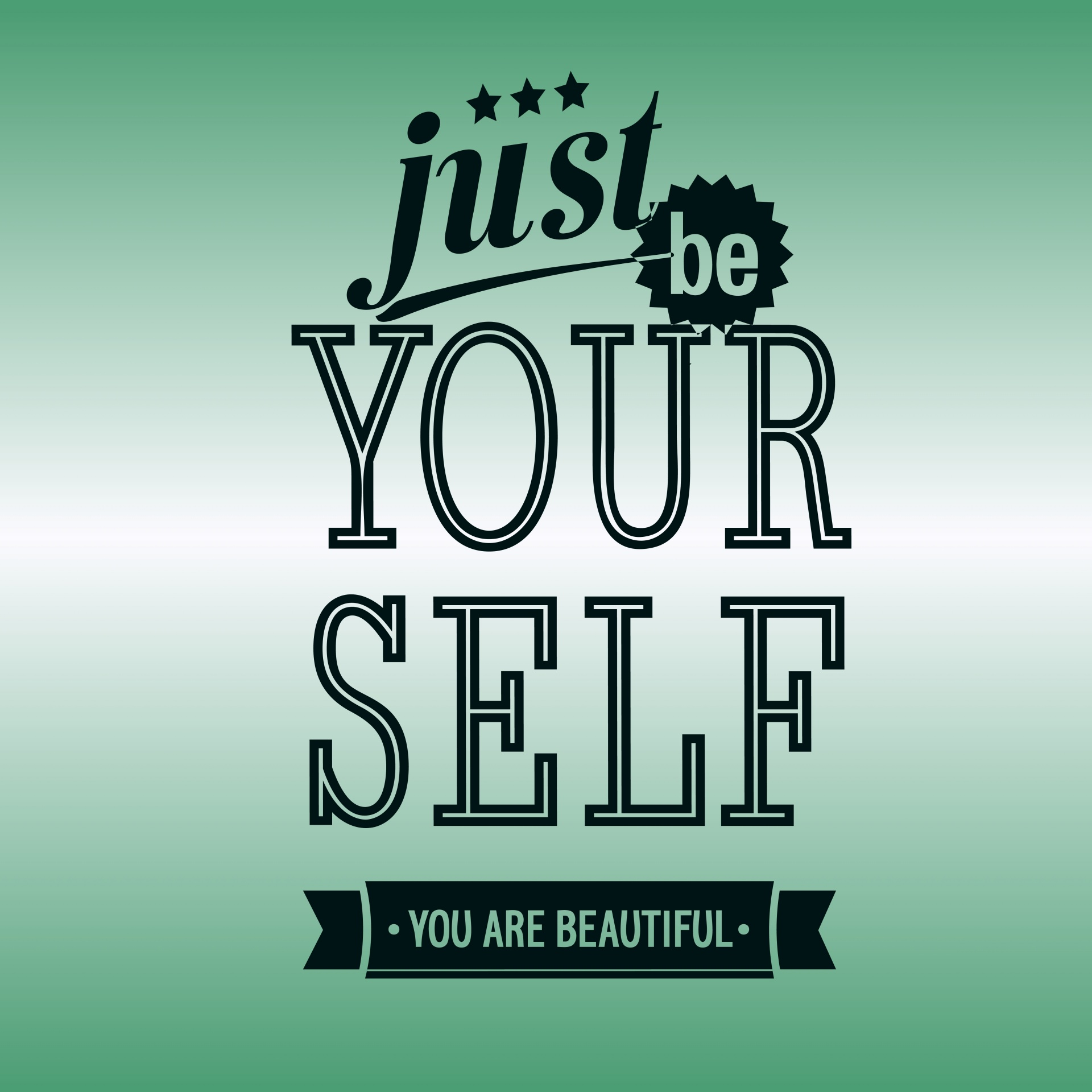 Be,yourself,black,text,gradient - free image from needpix.com