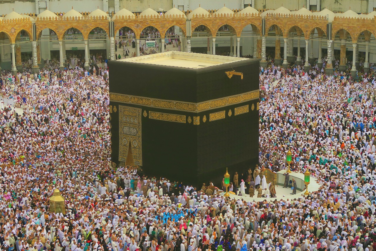 kaaba  islam  the pilgrim's guide free photo