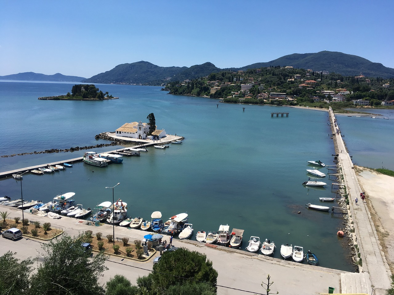 kanoni corfu island free photo