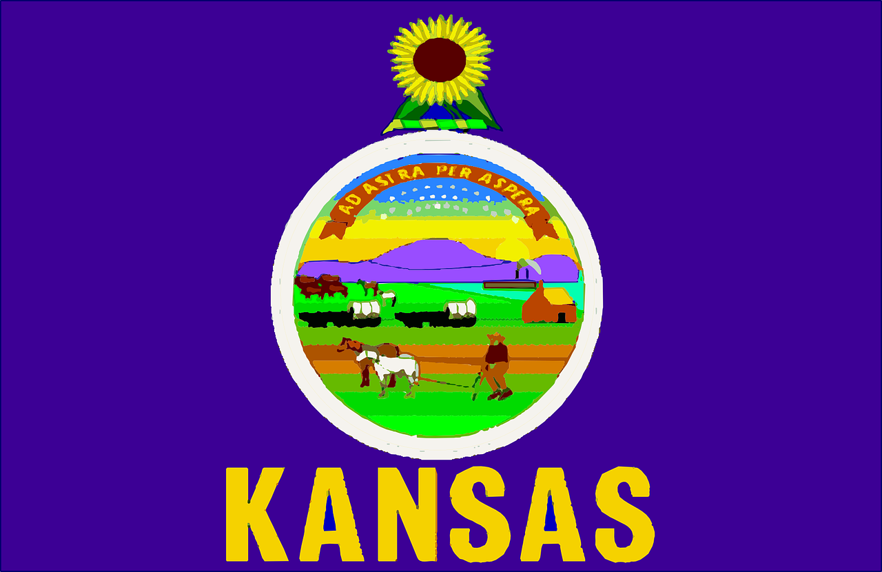 kansas flag usa free photo