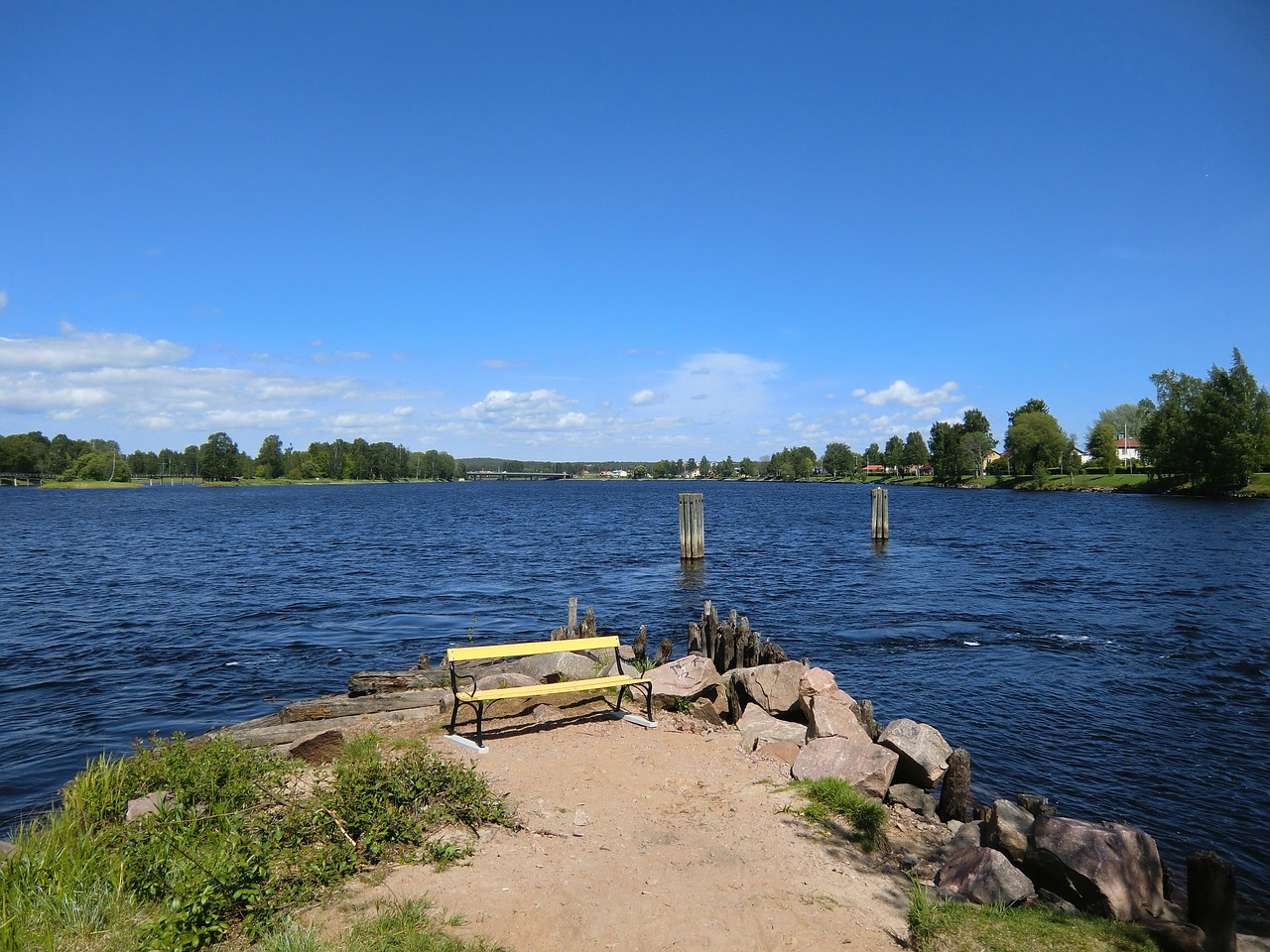 karlstad sweden lake free photo