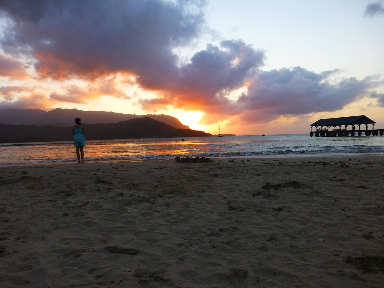 kauai hawaii beach free photo