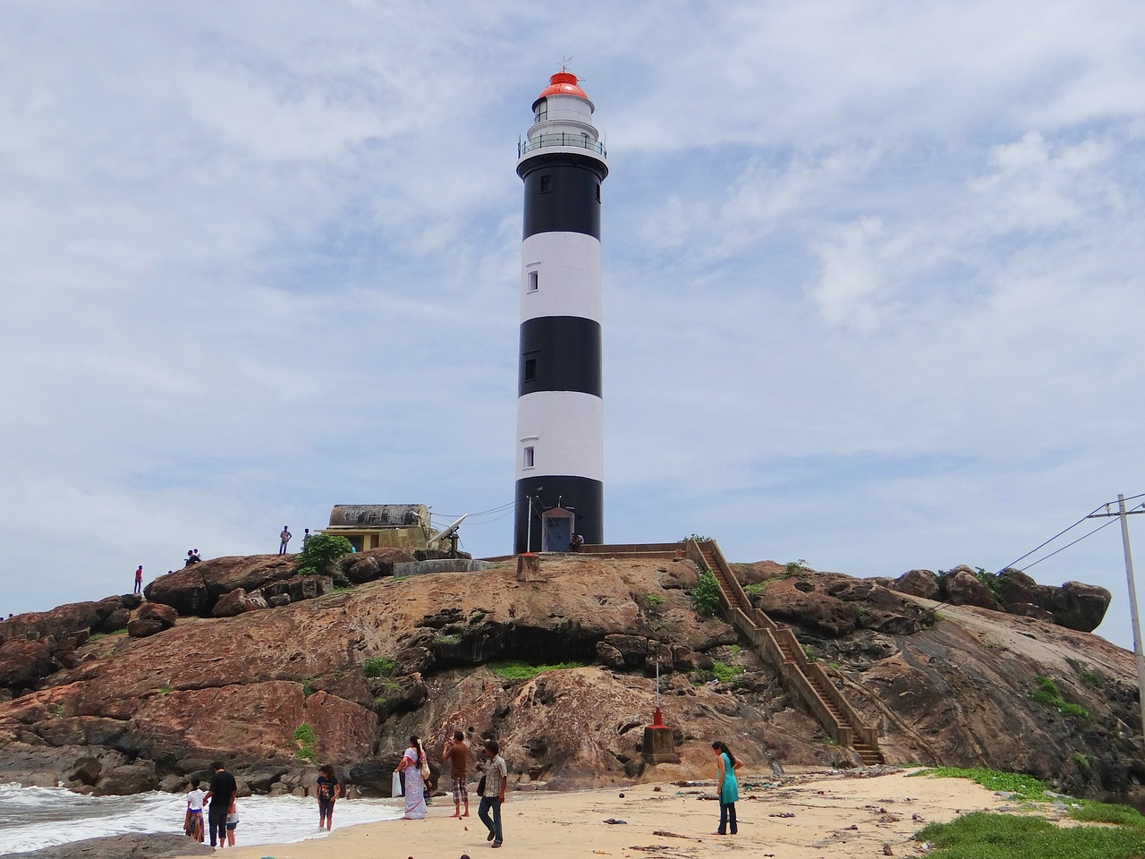 kaup beach light house arabian sea free picture