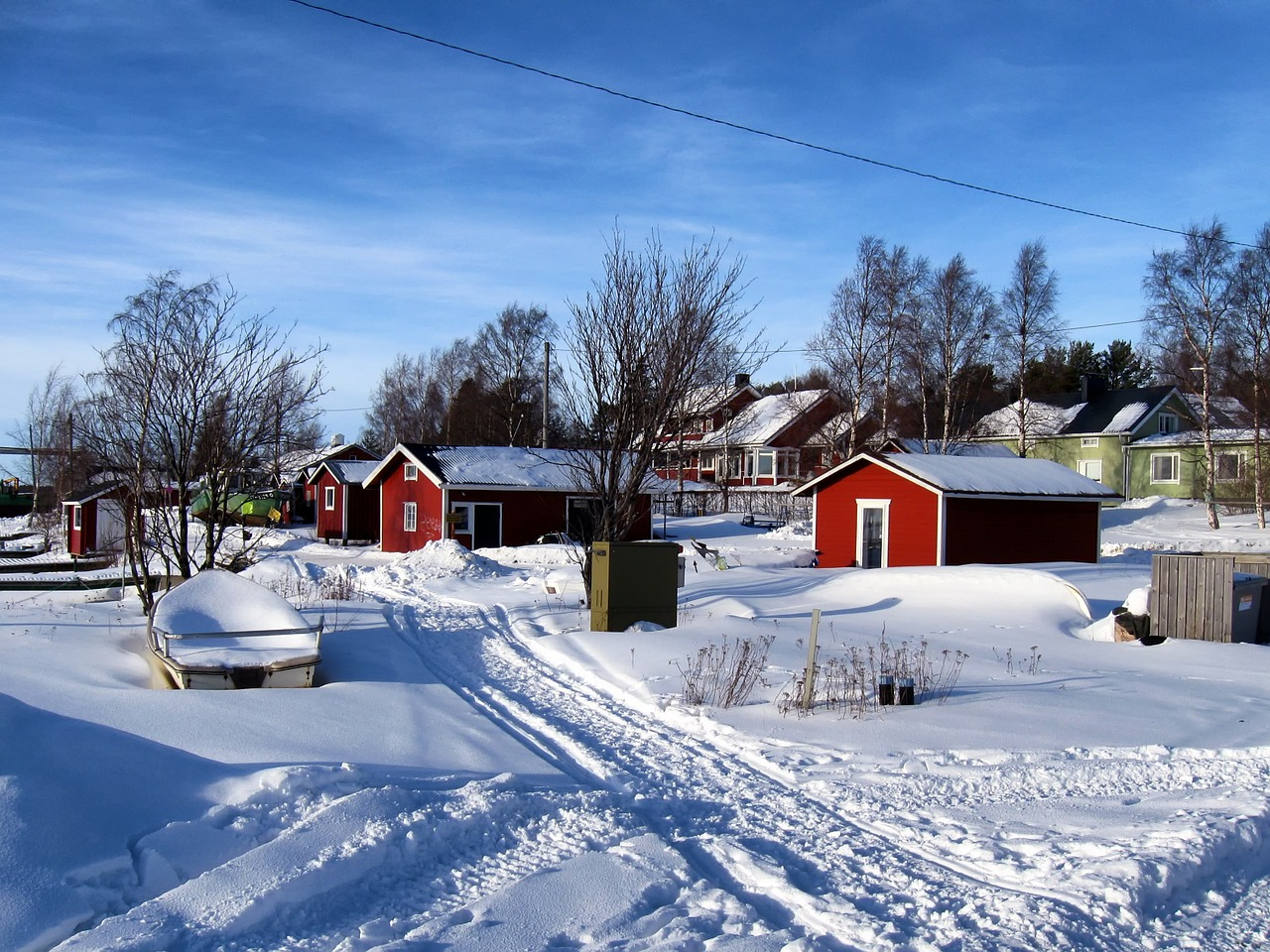 kello finland fishing village free photo