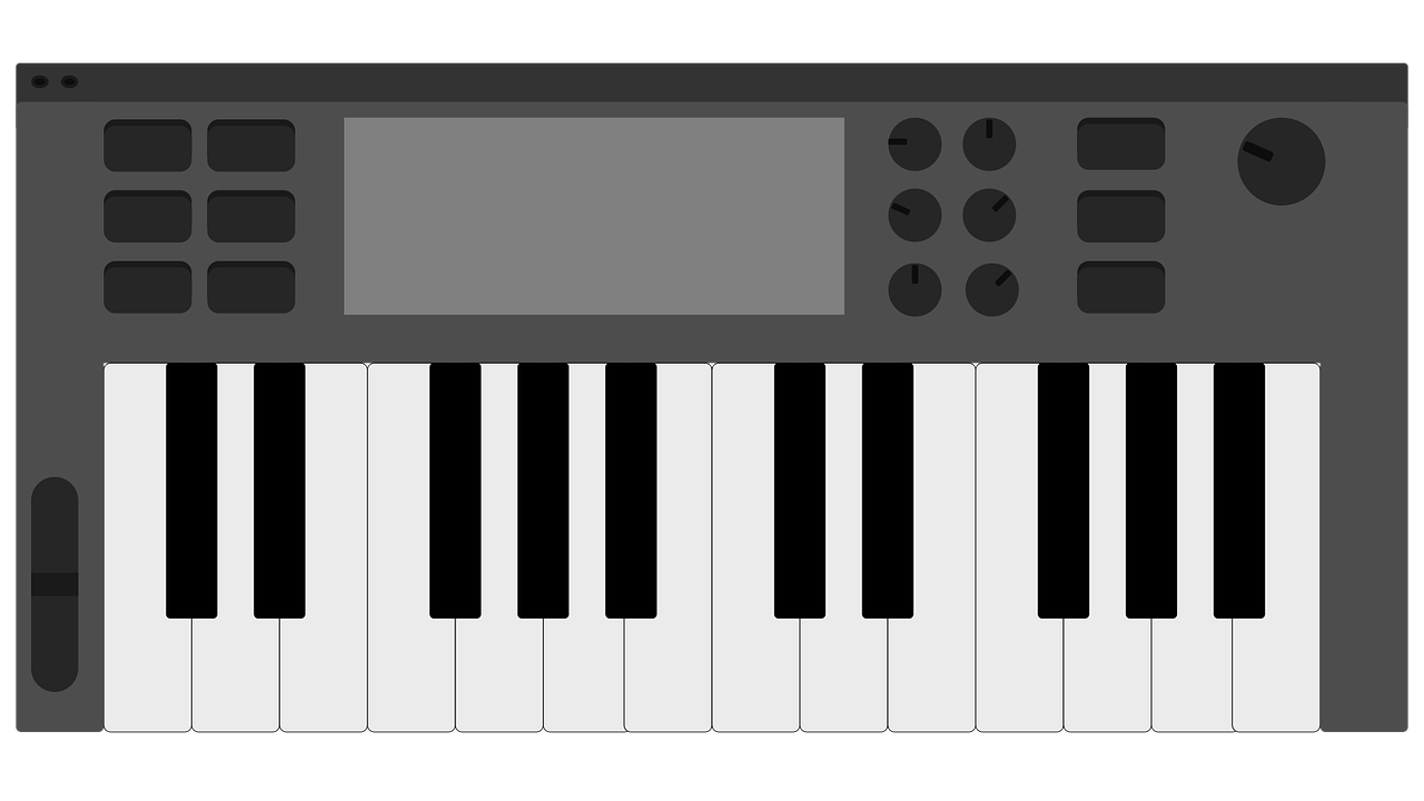 Keyboardmidi Controllermusicpianovectorfree Vector Graphicsfree