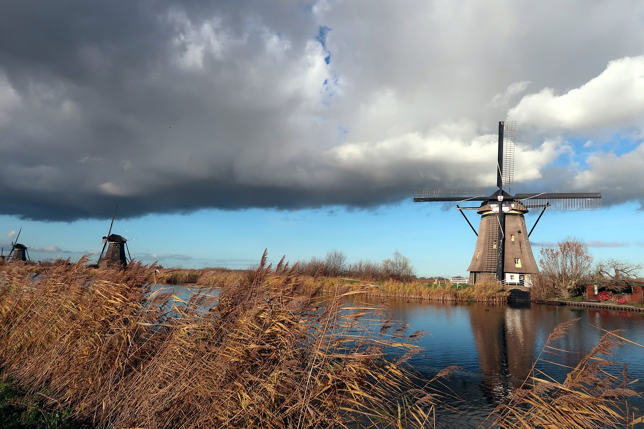 kinderdijk  mill  mills free photo