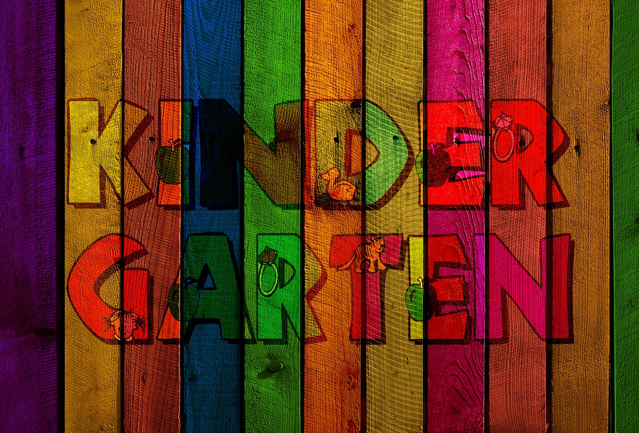 kindergarten  wood  boards free photo