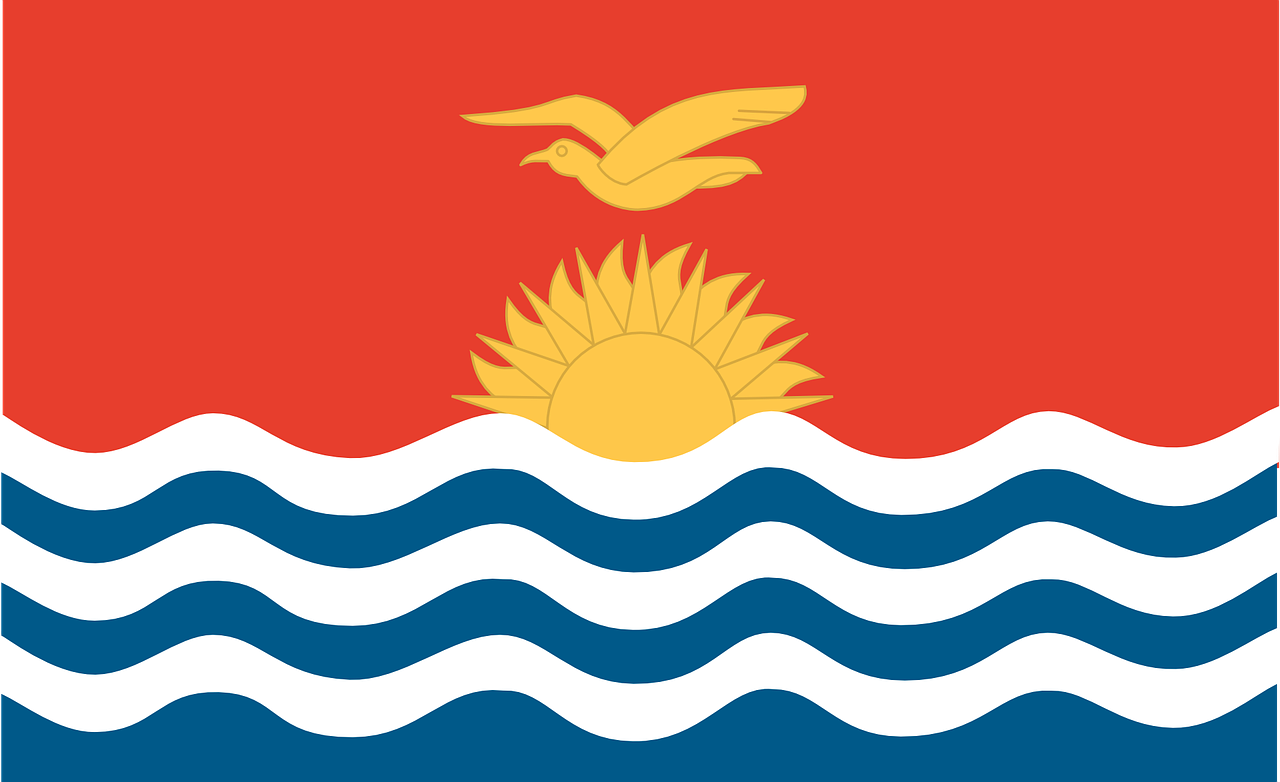 kiribati flag official free photo