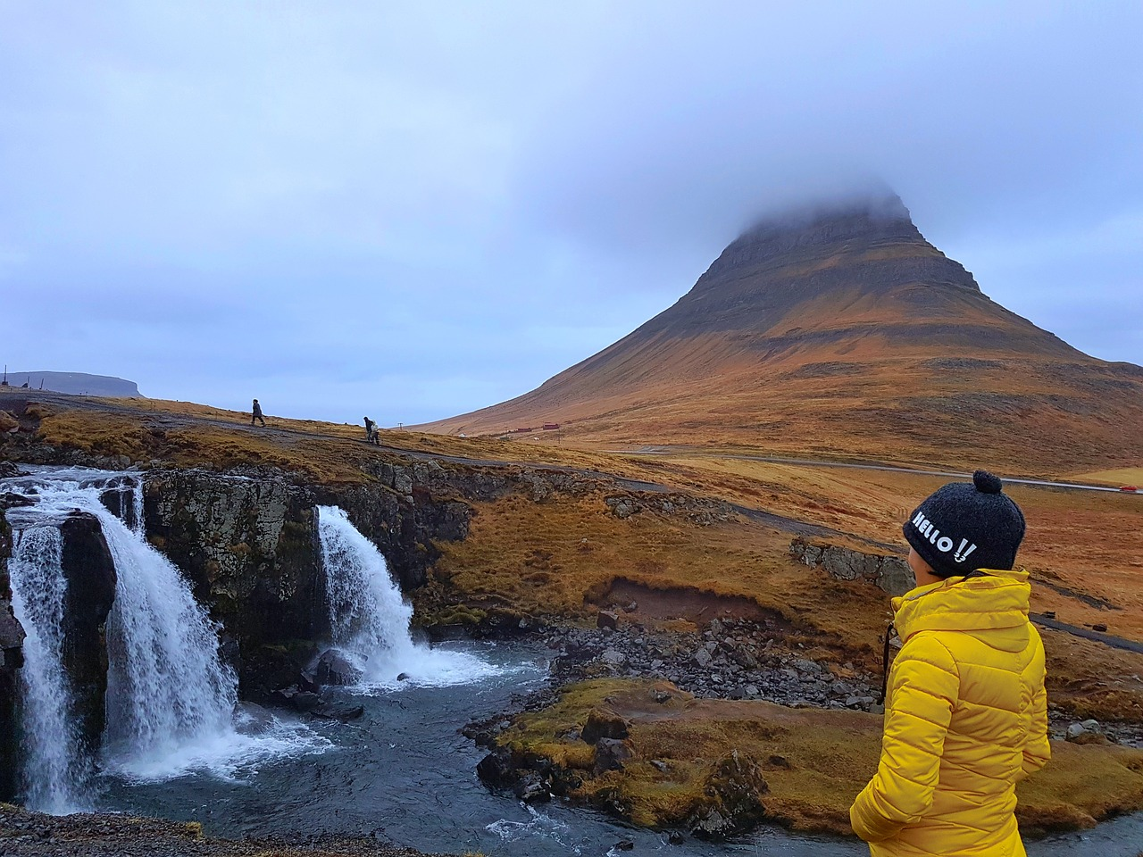 kirkjufell iceland waterfall free photo