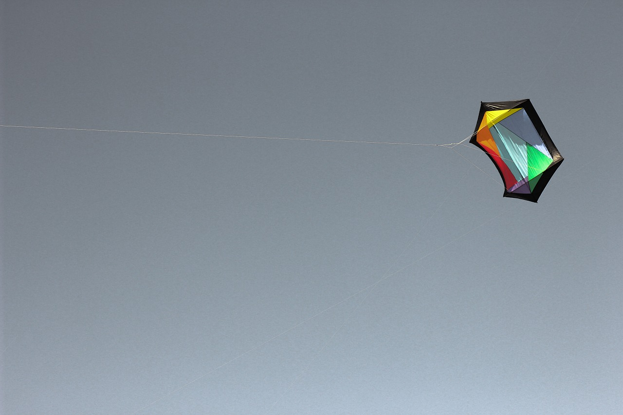 kite sky flying free photo