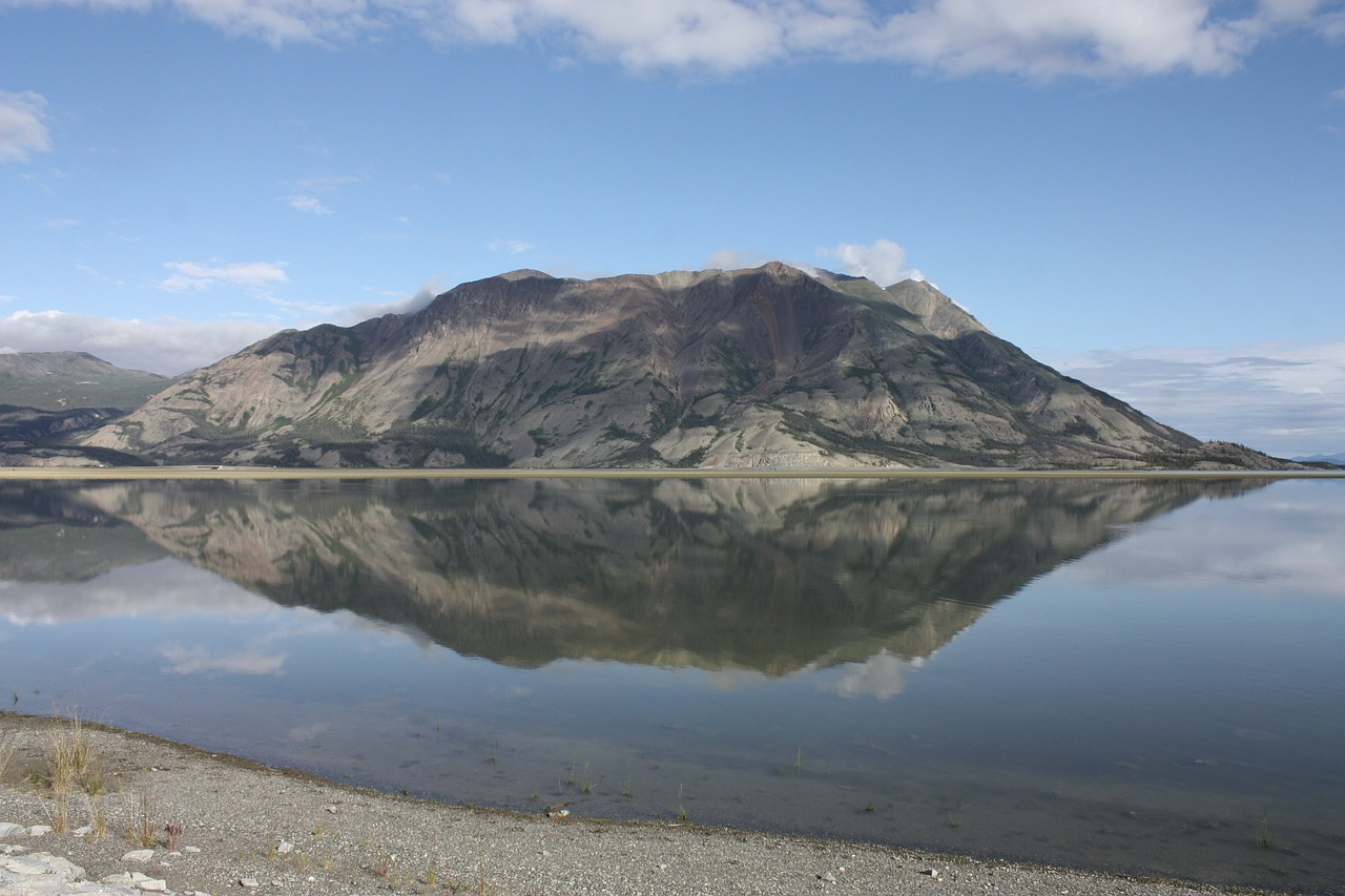 kluane lake yukon canada free photo