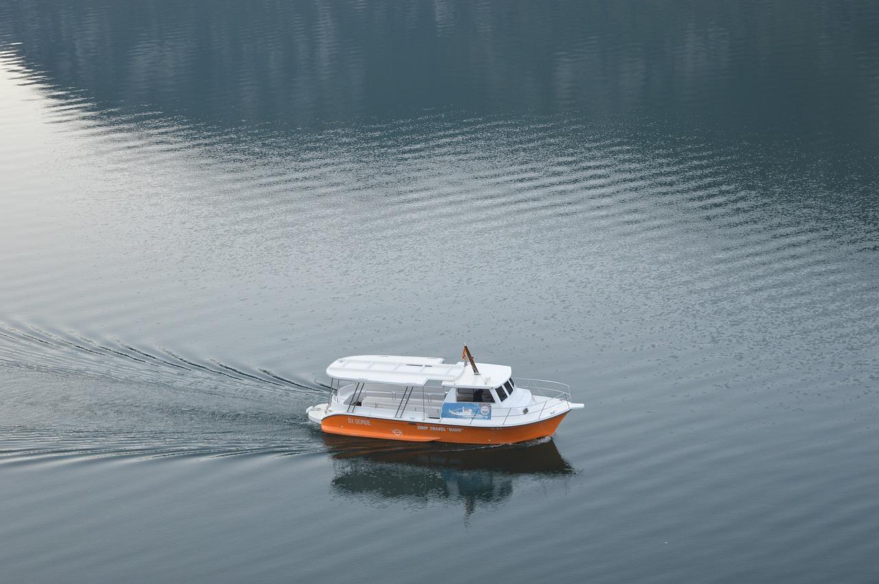 kotor boat fjord kotor wake free photo from