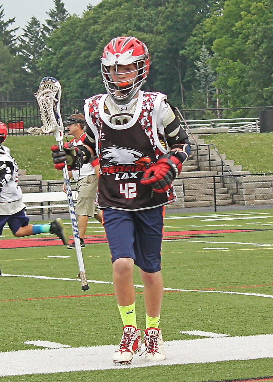 lacrosse player team sport free photo